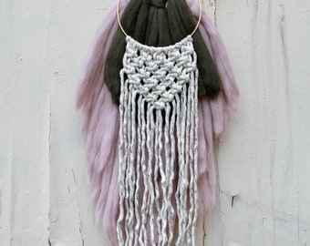 Wool and Cotton Macrame Wall Hanging
