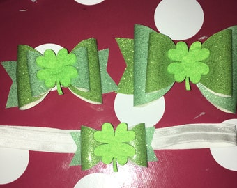 St Patrick's Day Bows