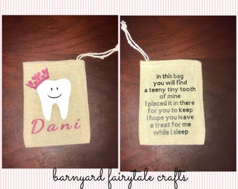 Tooth Fairy Pouch personalized