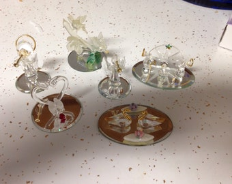 Lot of 6 glass figurines