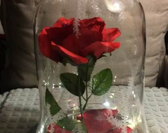 Enchanted Rose - Beauty and The Beast 2017 (Glass)
