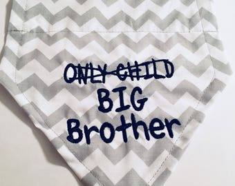 Big Brother, Dog Bandana, Pregnancy Announcement, Only Child, Over the Collar, New Baby, Reveal Announcement, Dog Lover Gift, Shower Gift