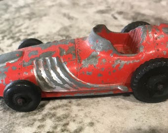 Vintage Hubley 765 Diecast Red INDY RACE CAR - 4 Inches