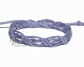 Leaves Periwinkle Hemp Adjustable Bracelet or Anklet