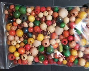 Bag of Wood Beads