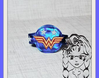 WW FeMALE HeRO WRiSTBaND ArM CaNDY Snap Tab 4 Holidays Birthday ~ In the Hoop ~ Downloadable DiGiTaL Machine Embroidery Design by Carrie