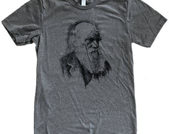 Charles Darwin Portrait  T-Shirt - Mens Shirt - (Available in sizes S, M, L, XL, 2X)