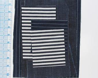 Denim Fabric Scraps | 6 Ounce Bag of Denim Cotton Fabric Pieces