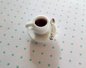 Miniature Cup of Coffee ~ Dollhouse Accessories 1:12  ~ Kitchen ~ Diorama ~ Fairy Garden
