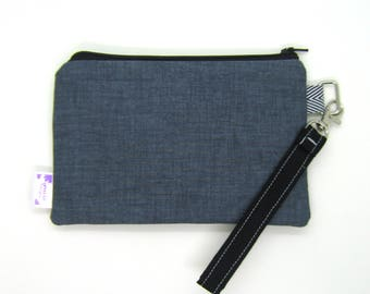 Clearance - Sale - Gift - Gracie Designs Wristlet - Navy Vintage Twill
