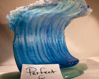 Crusher Glass wave sculpture FREE Shipping