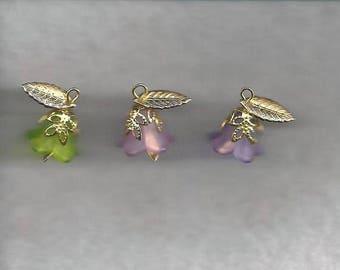 Charmed Lucite Flower Drops