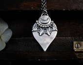 lunar pendulum ... silver pendant