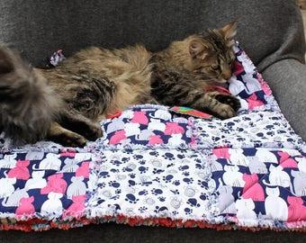 Cat Blanket, Cat Quilt, Pet Furniture Cover, Cat Bed. Cat Bedding,  Cat Accessories, Luxury Cat Bed. Travel Cat Blanket, Cat Bed And Toy