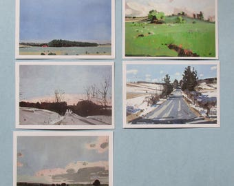 20 Postcards of 5 Landscape Paintings by Canadian Artist Harry Stooshinoff