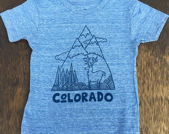 Blue/Blue Colorado Mountain Shirt