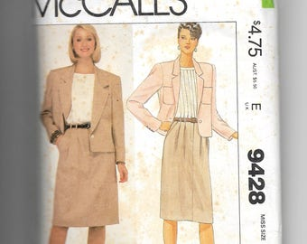 McCall's Misses' Jacket, Blouse and Skirt Pattern 9428