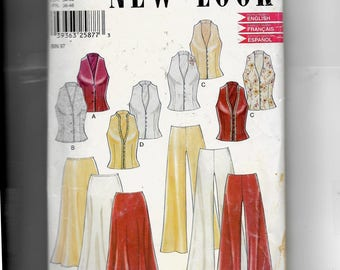 New Look Misses' Vest, Skirt and Pants Pattern 6182