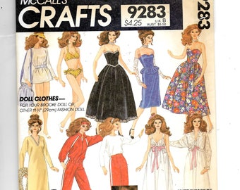 McCall's  Brooke Shields Doll Clothes Package Pattern 9283