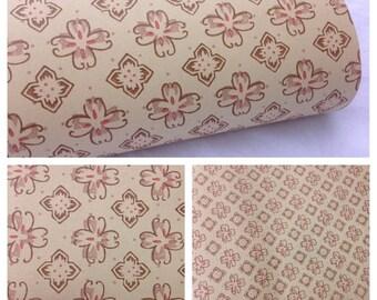 SALE- Vintage Floral Wallpaper-1 yard