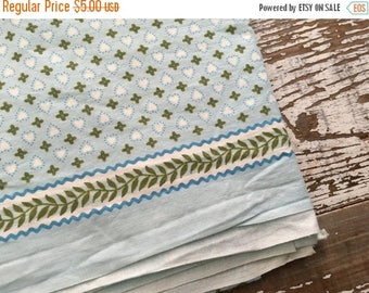 CRAZY SALE- Vintage Heart Fabric-Blue and Green-Valentines Day