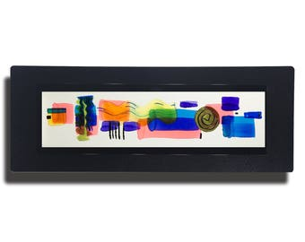 Multi Colored Metal Painting, Modern Metal Art, Abstract Metal Wall Accent, One of a Kind Modern Home Decor, Gift - JC 485 by Jon Allen