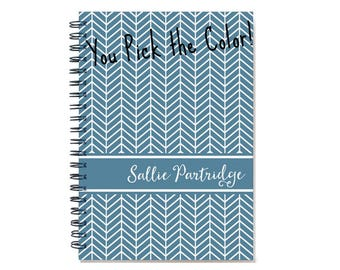 Personalized 2017 weekly planner book, 2017-2018 agenda, Start any month, 12 month engagement calendar, SKU: pli chevron2