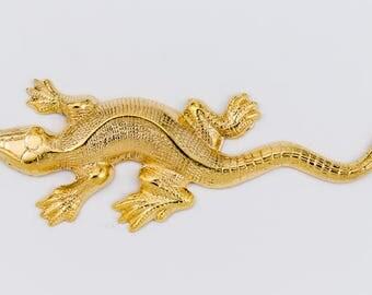 18mm x 40mm Gold Lizard #2069A