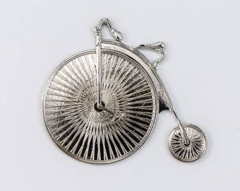 30mm Silver Penny Farthing Bicycle #CHA180