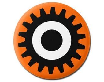 "A Clockwork Orange 1.25"" or 2.25"" Pinback Pin Button Badge Bookworm Book Reader Library Librarian Gift Movie Stanley Kubrick Droog Eye"