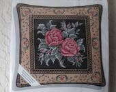 "Needlepoint Pillow Cushion Kit Needle Treasures, Midnight Roses 12""x12"", by Micheal A. LeClair, New in Package"