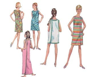 60s uncut Wrap Dress Pattern vintage 36-27-38 Three Armhole Dress pattern Sundress pattern Bust 36 Size Medium Simplicity 7572