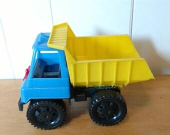 CLEARANCE vintage Amloid plastic dump truck