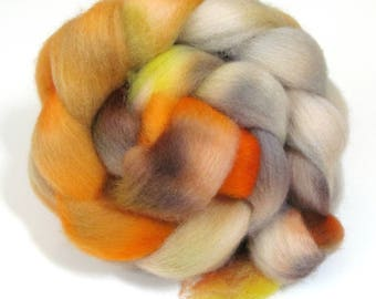 Hand Dyed Roving Combed Wool Top Whitefaced Woodland 100g WW34