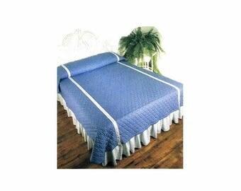 SALE Bedcovers Bedspreads Coverlet Quilt Duvet Simplicity 122 Vintage Sewing Pattern