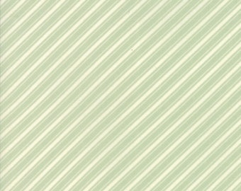 Ella and Ollie - Ticking Stripe in Pond : sku 20306-14 cotton quilting fabric by Fig Tree and Co. for Moda Fabrics