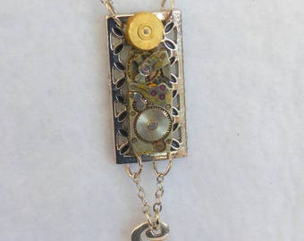 Steampunk Necklace --Vintage Watch Movement  SN317
