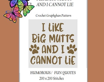 I Like Big Mutts - Crochet Graphghan Pattern