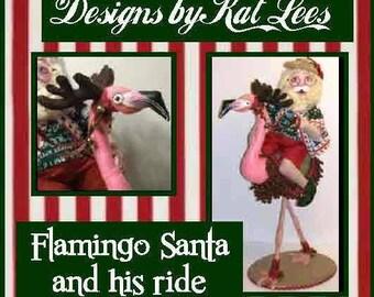 The Flamingo Santa E-Pattern