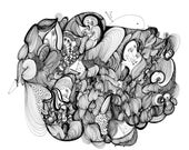 The Mighty Megaphone Fine Art Archival Print of Original Pen and Ink Drawing