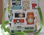 Custom for Ali Mini Travel Hipster Passport Bag 3 Pockets Removable Shoulder Strap Made in USA Vintage Cameras