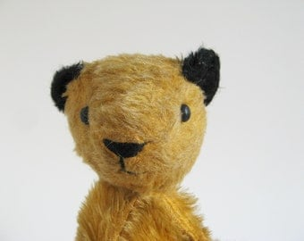 Vintage Sooty Bear Puppet Stuffed Animal  1950s Toy Teddy Bear Retro Toys Vintage Kids Made in England by Vintage Hygienic Toys Chad Valley
