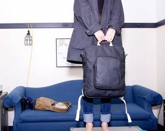 Backpack No.2 in Black Leather