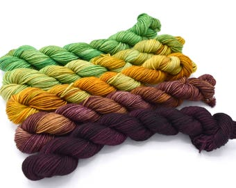 Mini Skein Yarn Set - Dance Mistress - Hand Dyed to Order