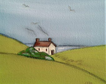 Cottage by the Sea Art Print Sea Cottage