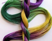 "Size 10 ""Mardi Gras"" hand dyed thread 6 cord cordonnet tatting crochet cotton"