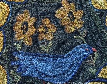 Bluebird & Sunflowers Punch Needle Box