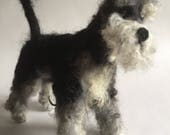 RESERVED for Cheryl - Sidney the Needle Felted Schnauzer Dog Sculpture