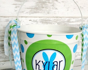 ON SALE custom personalized 10 QUART Easter name bucket - choose your own easter design