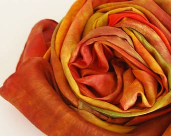 Waldorf Autumn Playsilk : Heart of the Autumn Maple, Seasonal Silk of the Month for August (35 x 35 inch Open Ended Toy)